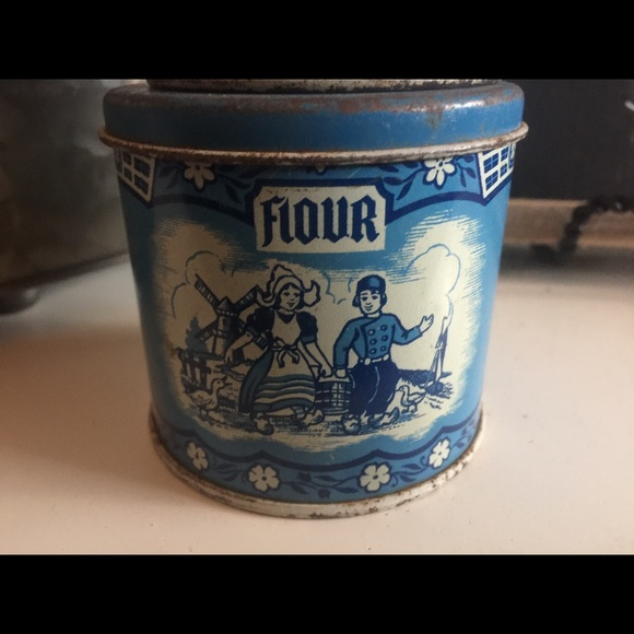 rare Antique toy kitchen tin canisters 1920's